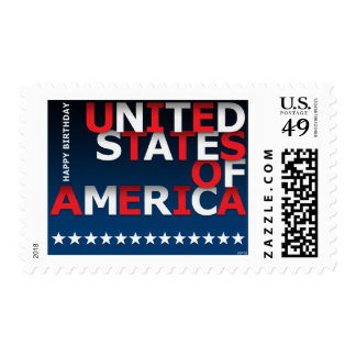 Happy Birthday USA Postage Stamp