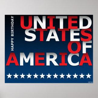 Happy Birthday USA Print
