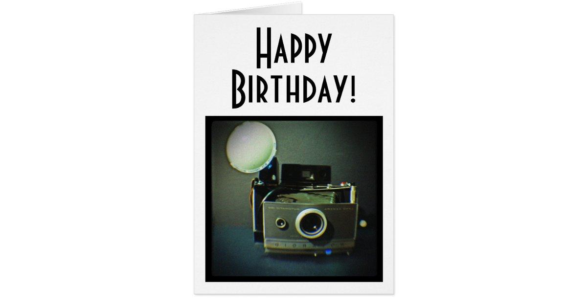 Happy Birthday Vintage Camera Card Zazzle