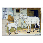 Happy Birthday Vintage Sheep Collage Card