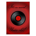 Happy Birthday vinyl record vinyl album retro Greeting Card