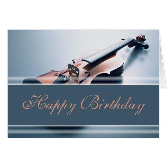 Happy Birthday - Violin Card