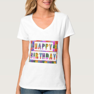 HAPPY BIRTHDAY : Vneck choice SHIRT