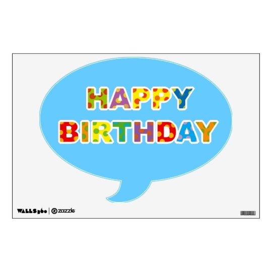 happy birthday wall decal