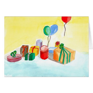 Happy Birthday - Watercolour by Paul Riedel 2010 Card