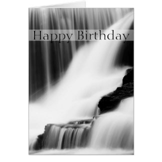Happy Birthday Waterfall Card