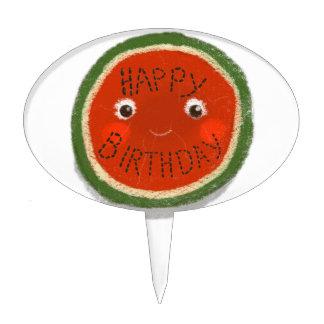Happy Birthday Watermelon Cake Topper