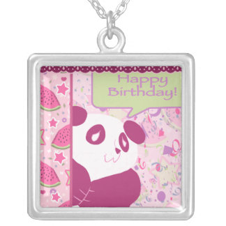 Happy Birthday Watermelon Pink Panda Custom Jewelry