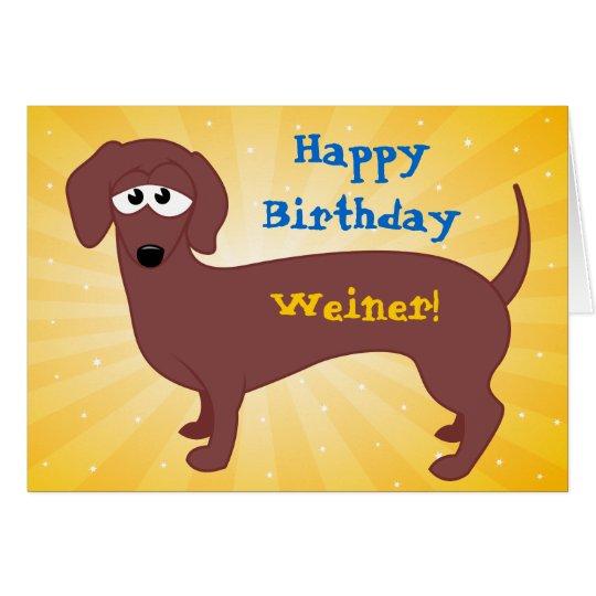 Birthday Photography Tips And Tricks: Happy Birthday Weiner Card