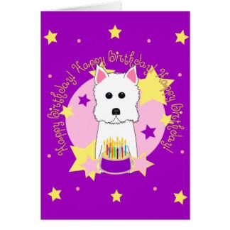 Happy Birthday Westie Greeting Card
