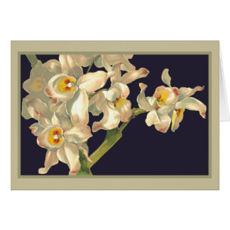 Happy Birthday White Orchids Cards