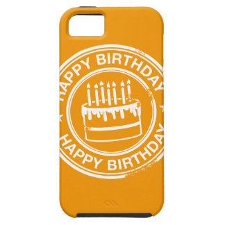 Happy Birthday -white rubber stamp effect- iPhone SE/5/5s Case