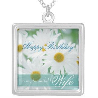 Happy Birthday Wife - Spring DaisyBirthday Pendant