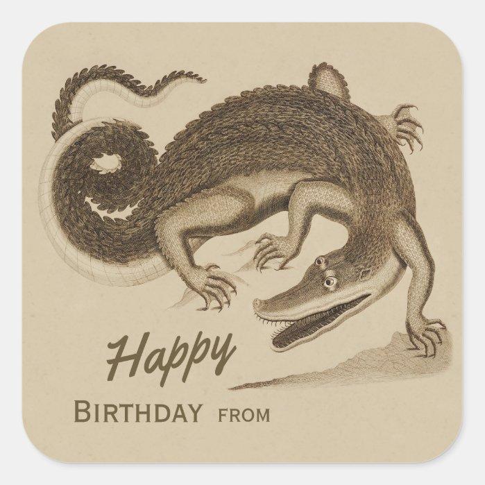 Happy Birthday Wild joyful crocodile CC0892