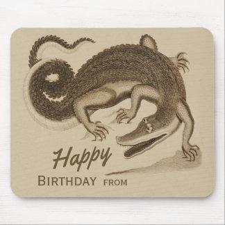 Happy Birthday Wild joyful crocodile CC0896 Mouse Pad