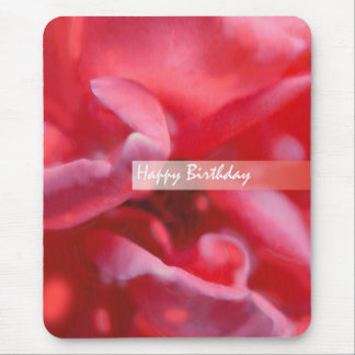 HAPPY BIRTHDAY wild rose painting Greeting Mouse Pad