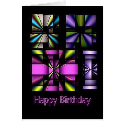 Happy Birthday Wind Wheels Greeting Card