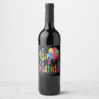 Happy Birthday Wine Lables Wine Label