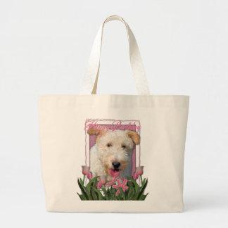 Happy Birthday -  Wire Fox Terrier - Hailey Jumbo Tote Bag