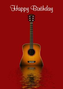 Acoustic Guitar Cards Zazzle