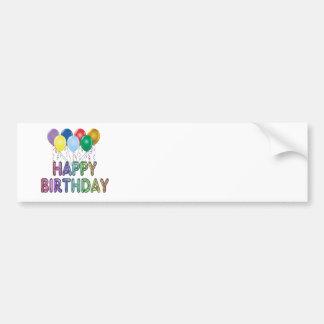 Happy Birthday with Balloon Bumper Sticker Car Bumper Sticker