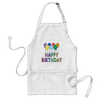 Happy Birthday with Balloon Cooking Apron