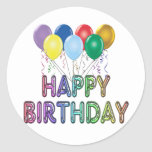 Happy Birthday with Balloon Stickers