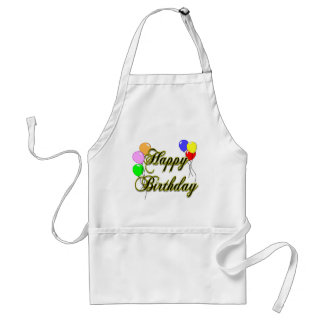 Happy Birthday with Balloons 2 Cooking Apron Standard Apron