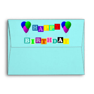 Happy Birthday with Balloons by ShirleyTaylor Envelope