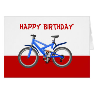 Happy Birthday with bike bicycle pushbike Card