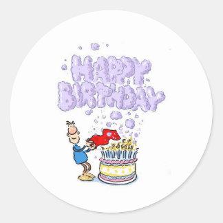 Happy Birthday with birthday cake candles Sticker