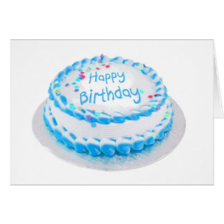 Happy birthday with blue frosting card