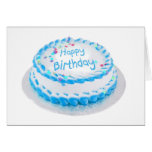 Happy birthday with blue frosting greeting card