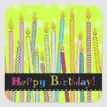 Happy Birthday with Candles Galore! Square Sticker