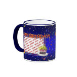 Happy Birthday With Confetti  Photo Frame Ringer Coffee Mug