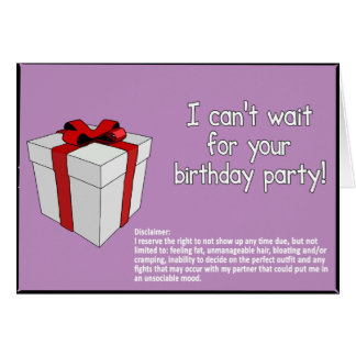 Happy Birthday with Disclaimer Card