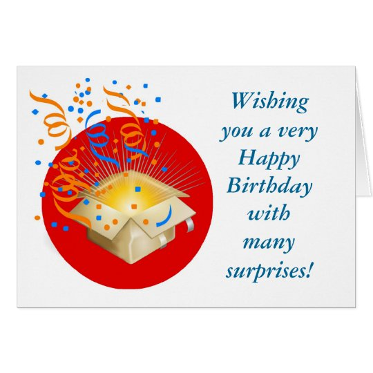 Happy Birthday with gift box surprise Card