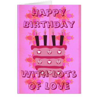 Happy Birthday With Lots of Love Card