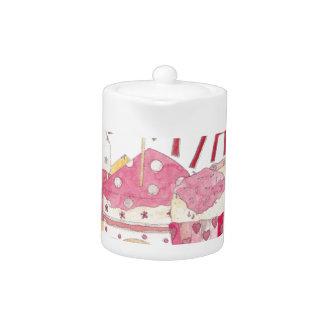 Happy Birthday With Love Teapot