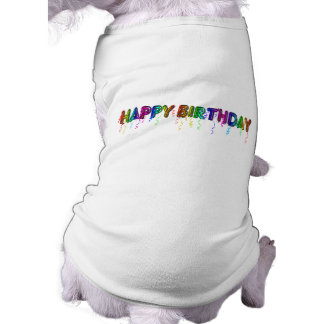 Happy Birthday with Party Streamers T-Shirt