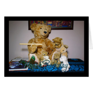 Happy Birthday With Puppet Master Teddy Bear And F Card