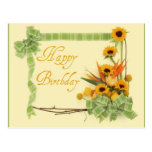 Happy Birthday with Ribbons Postcard