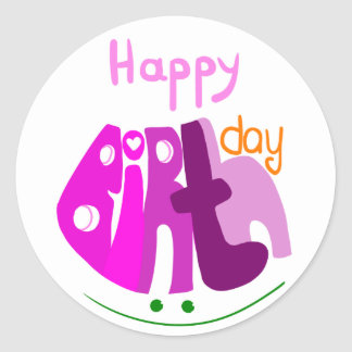 Happy Birthday with smile sticker