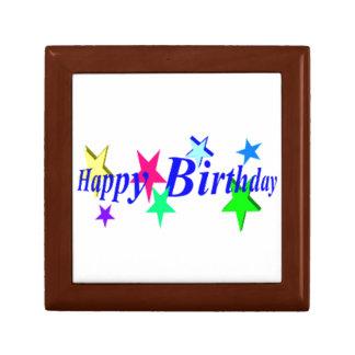 Happy Birthday With Stars Gift Box