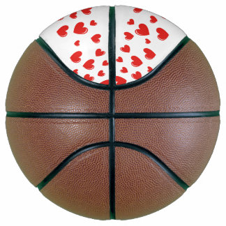 Happy Birthday with two red hearts Basketball
