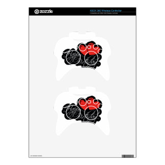 Happy Birthday with two red hearts Xbox 360 Controller Decal
