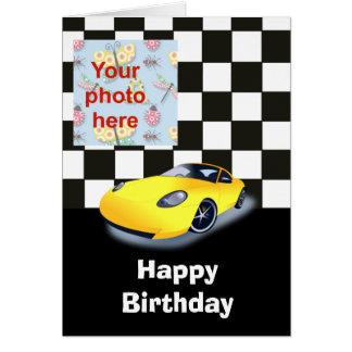 Race Car Happy Birthday Cards Zazzle