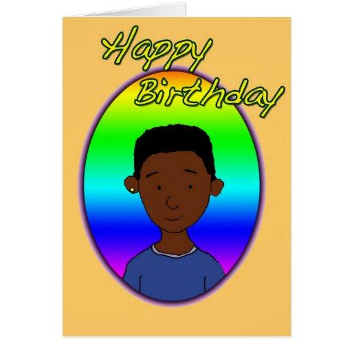 Happy Birthday Wobbly Black Guy Card