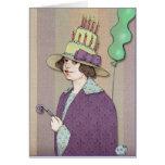 Hand shaped Happy Birthday Woman Card