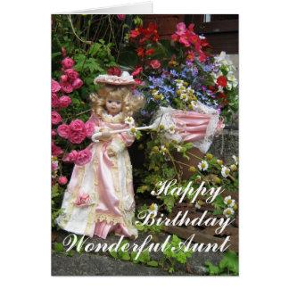 Happy birthday wonderful Aunt Card